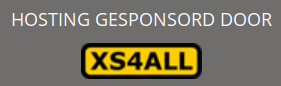 Banner saying 'sponsored by XS4ALL'